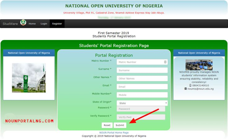Noun Students Registration Portal For New Students Noun