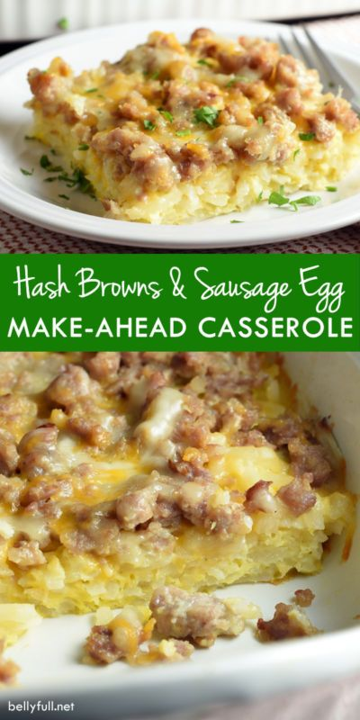 Whip up this tasty prepare-ahead Overnight Sausage, Egg & Hash Brown Breakfast Casserole and serve up a hearty breakfast or brunch your family will love ~ all with a low-maintenance morning for you. I am a big fan of overnight breakfast and brunch casseroles. I just love the convenience of putting.