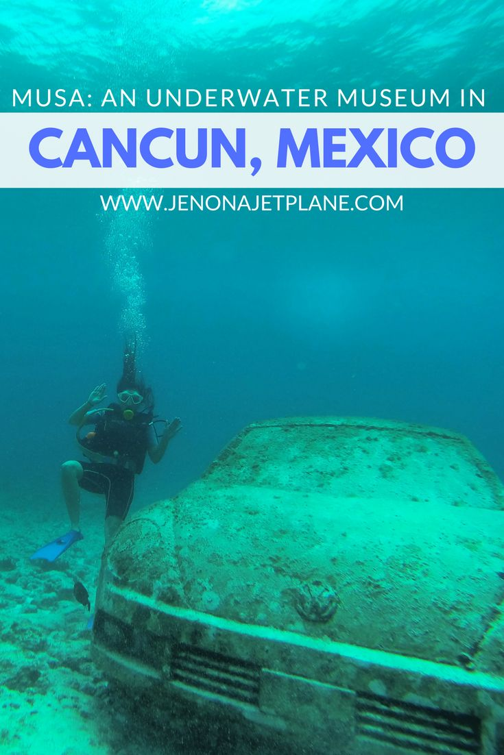 Explore MUSA, an underwater museum off the coast of Cancun, Mexico. Combine your love for scuba diving and art on an underwater museum tour, no dive certification needed!