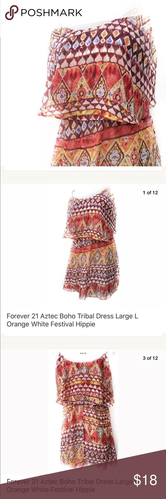 Forever 21 Aztec Boho Tribal Dress Festival Hippie Forever 21 Summer Causal Women Size Small Dress Boho Hippie Party Fashion Tribal Evening Beach Short Sleeveless Clothing Female Short Chic Fashion Bohemian   Measurements: 32 inches (From top of shoulder to bottom of Dress) 19 inches (From arm pit to arm pit) Forever 21 Dresses Mini