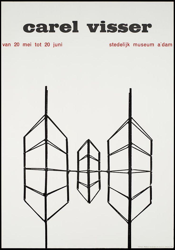 Pieter Brattinga, Carel Visser Stedelijk Museum Amsterdam, 1960