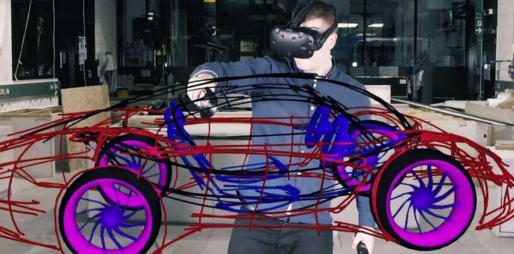 Ребята из лондонского Королевского колледжа искусств придумали Gravity Sketch довольно давно - первый прототип инструмента для рисования в виртуальной реальности представлял собой некое подобие графического планшета, совмещённого со специальным устройством...