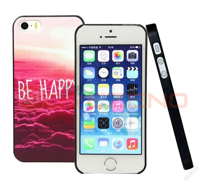 Iphone 5/5s plastv� kryt BE HAPPY!TOP