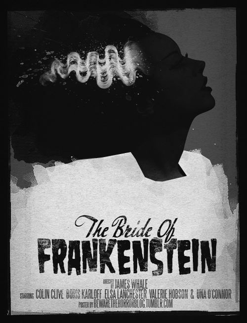 Stylized Classic Horror Movie Posters, Bride of Frankenstein