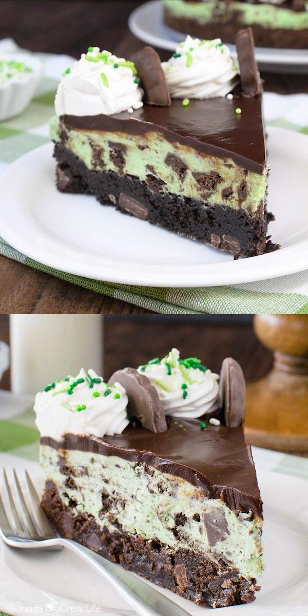 Thin Mint Cheesecake Brownie Cake – Lifestuff