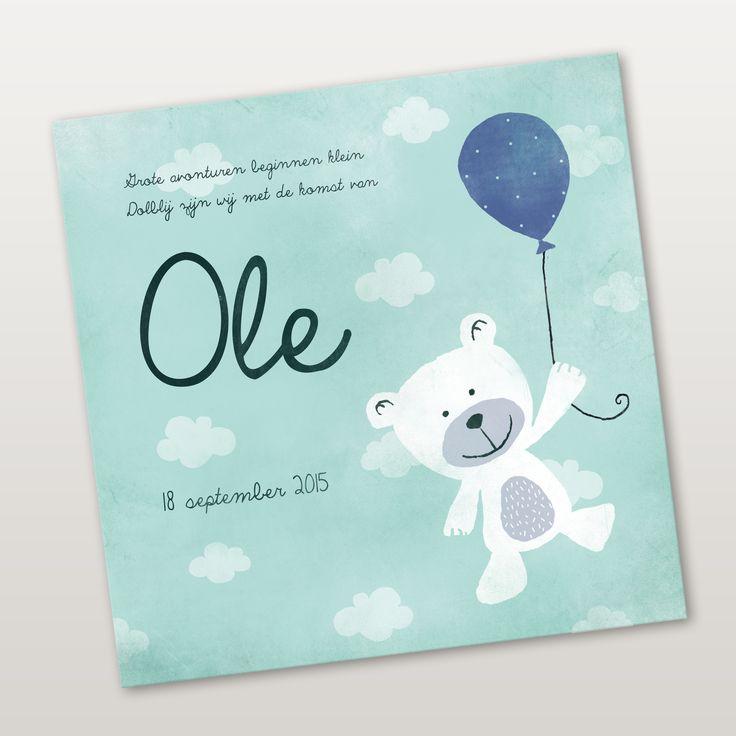 Kikker & Prins - Geboortekaartjes Ontwerp Ole #geboortekaartjes #geboortekaartje #zwanger #kids #baby #ontwerp #illustraties #origineel #kaartjes #schattig