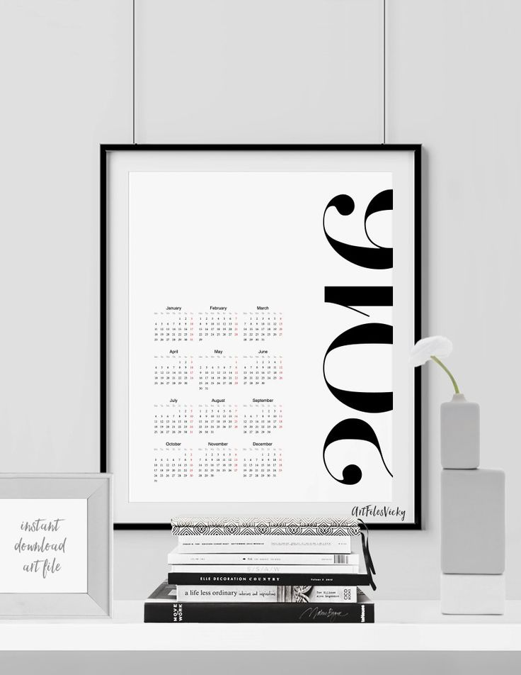 5 Inexpensive Printable Calendars for 2016 - Hege in France