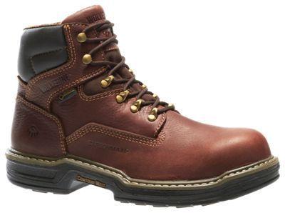 Wolverine Raider Extreme GORE-TEX Safety Toe Work Boots for Men - Brown - 11.5 M