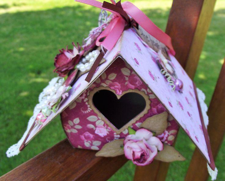 home decor bird house .... pot pourii holder