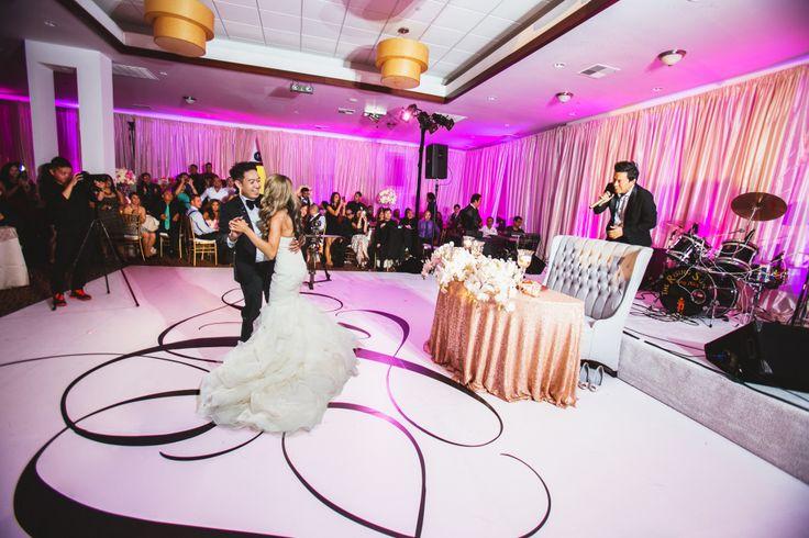 Lisa + Tuan's white seamless dance floor