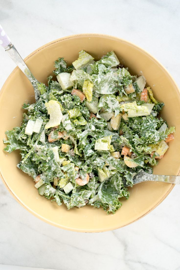 Raise your hand if you like creamy salad dressings?! Meeee too!! Especially now that fall is just around the corner and I don't want to give up eating raw s