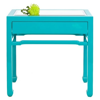 turquoise side tables (CL find painted)