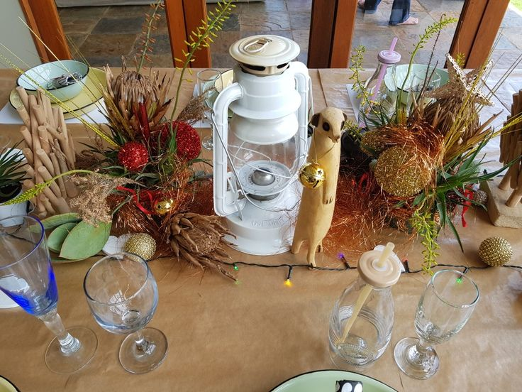 The centre of the table at a South African Christmas
