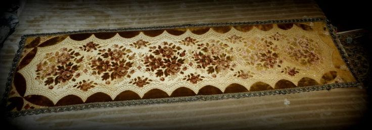 Victorian Table Runner  Velvet and Gold Metallic  #Victorian