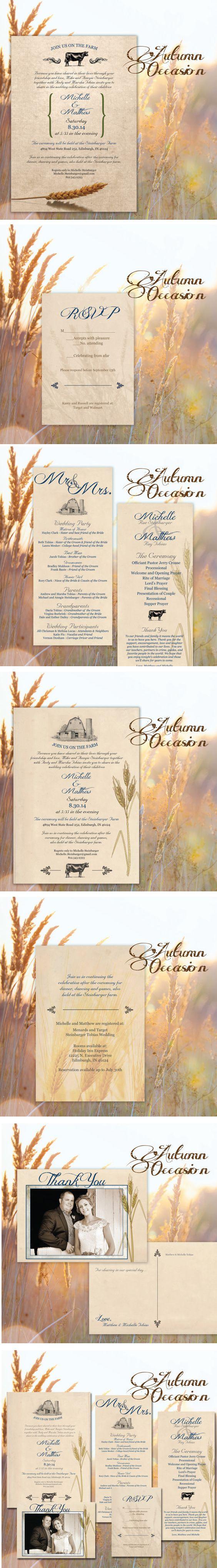 79 best Wedding Invitations, Programs, decor images on Pinterest ...