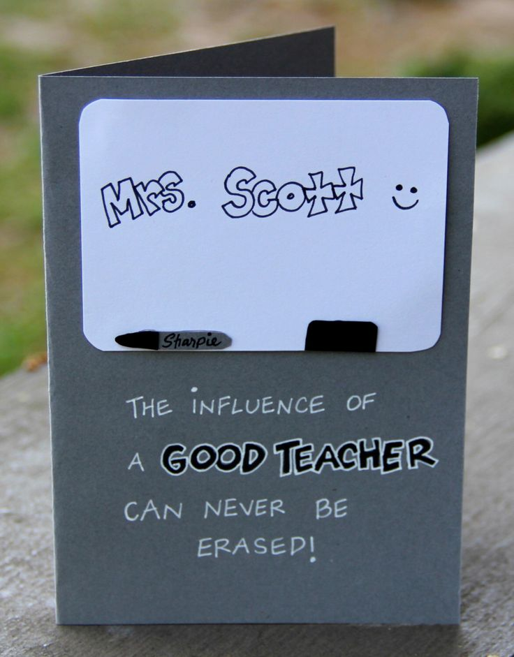 Permanent Impact- Personalized Teacher Appreciation Card by thepaperhugfactory on Etsy
