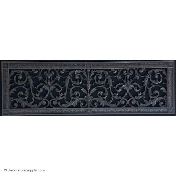 Resin Louis Xiv Grille 8 X 30 Duct 10 X 32 Frame In 2020 Decorative Vent Cover Vent Covers Decorative Grills