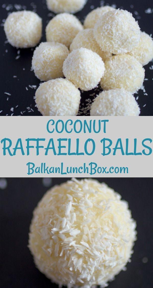 Coconut Raffaello Balls Balkan Lunch Box Recipe Coconut Recipes Dessert Recipes Recipes