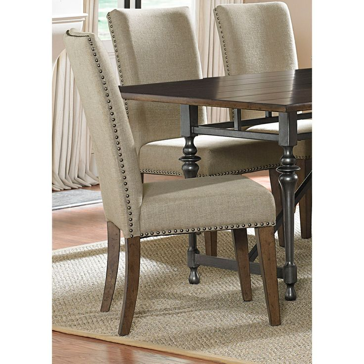 Liberty Furniture Ivy Park Upholstered Side Chair Set Of In Weathered Honey Silver Pewter By Dining Rooms Outlet