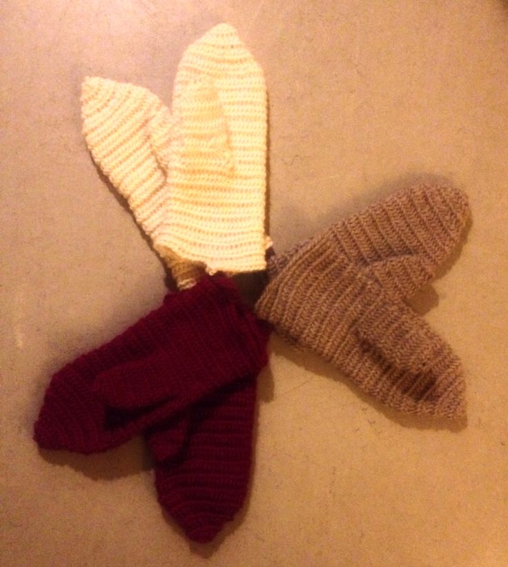 Needlebound traditional mittens in soft wool :)
