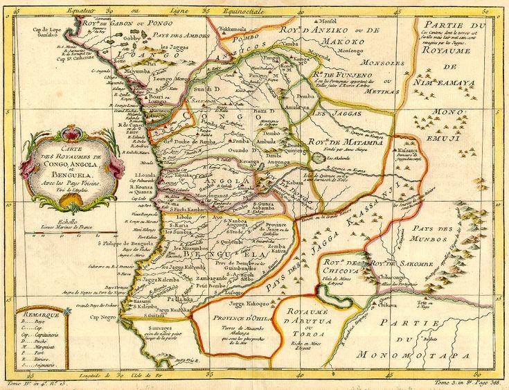 Congo map 1754 - Histoire du Congo précolonial (RDC) — Wikipédia
