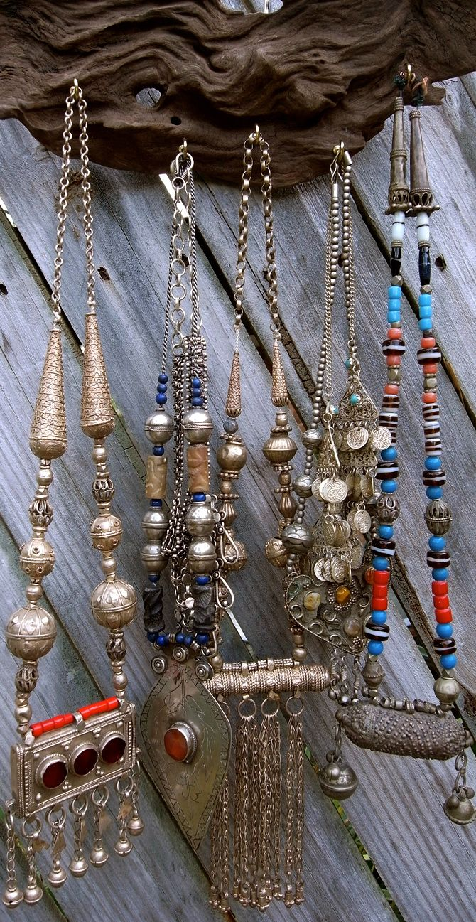 ☮ American Hippie Bohemian Style ~ Boho Jewelry .. Necklaces!