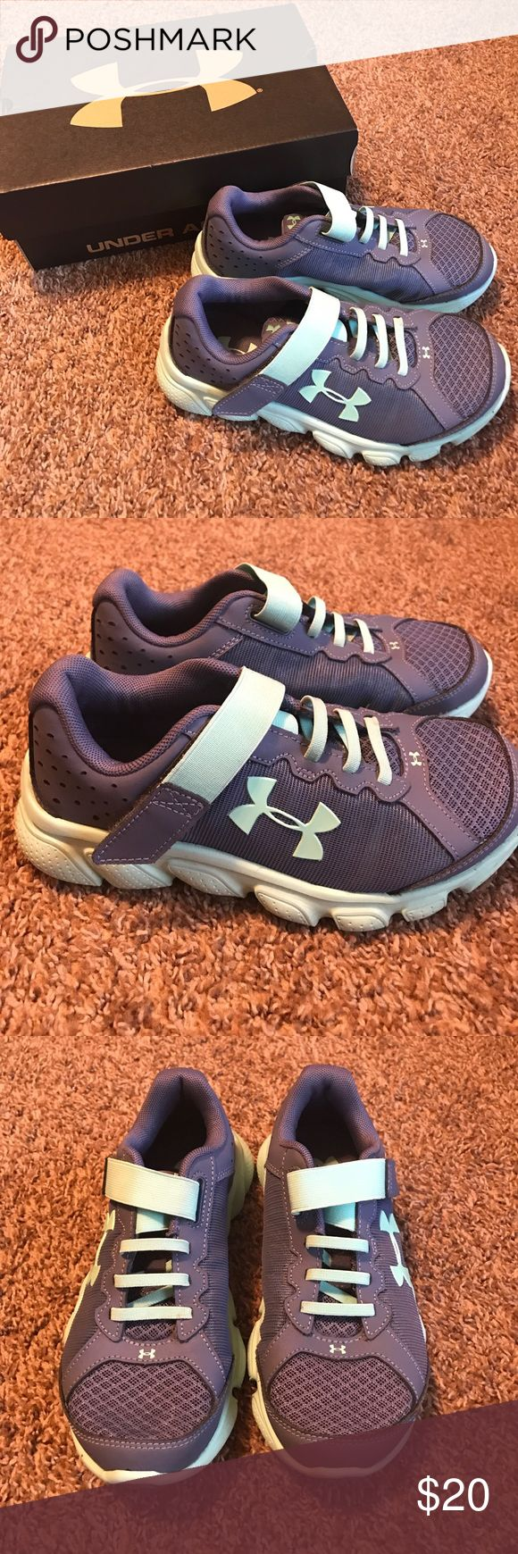 Under Armour Girls Tennis Shoes Worn once. Under Armour Shoes