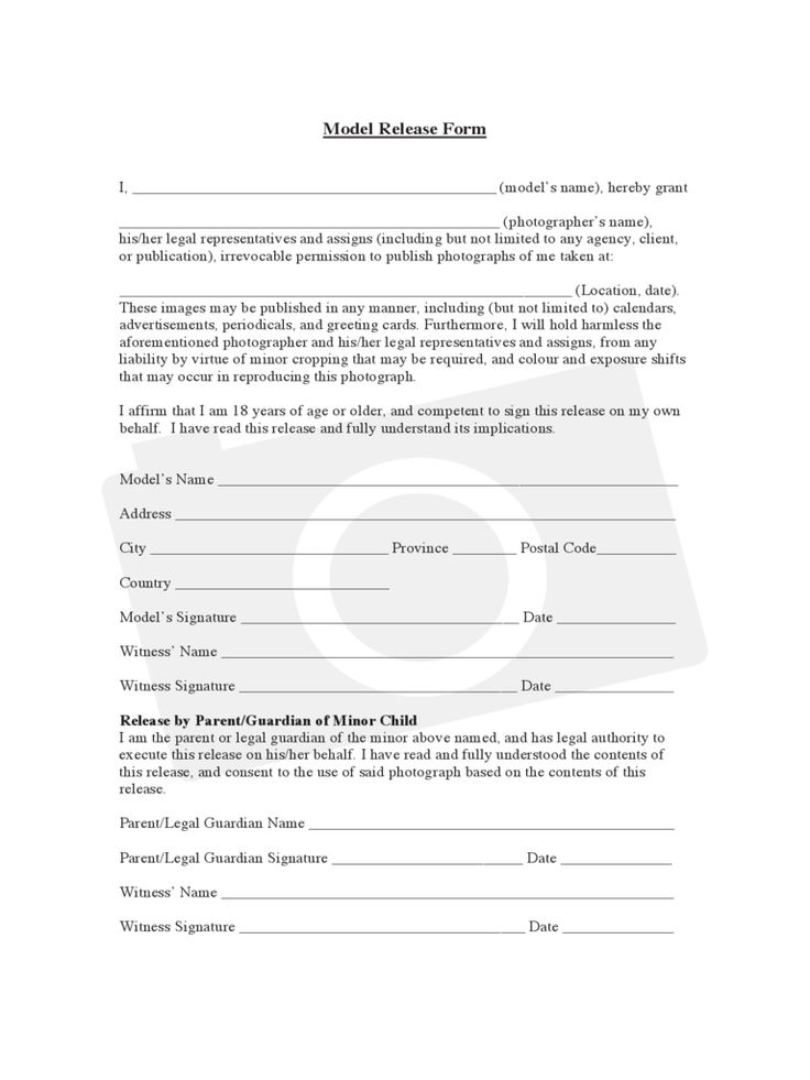 Image result for model release forms photography Photography Tips - photographer release form