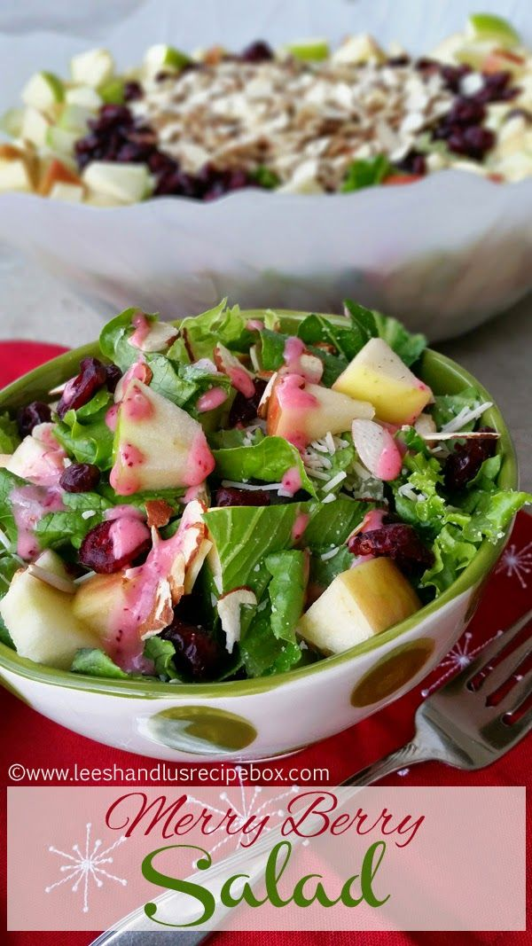 Isn't this salad pretty?  I love how pretty it is!   This is one of my favorite salads and it's perfect for the Holidays. My mom has be...