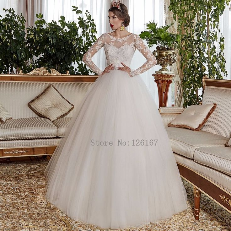 Aliexpress.com : Buy Backless Long Sleeves ball Gown Wedding Dress 2016 brilliant Appliqued Long Organza Wedding Gowns Vestido de noiva CGW408 from Reliable dress ballroom suppliers on Evening Dresses 1991  | Alibaba Group