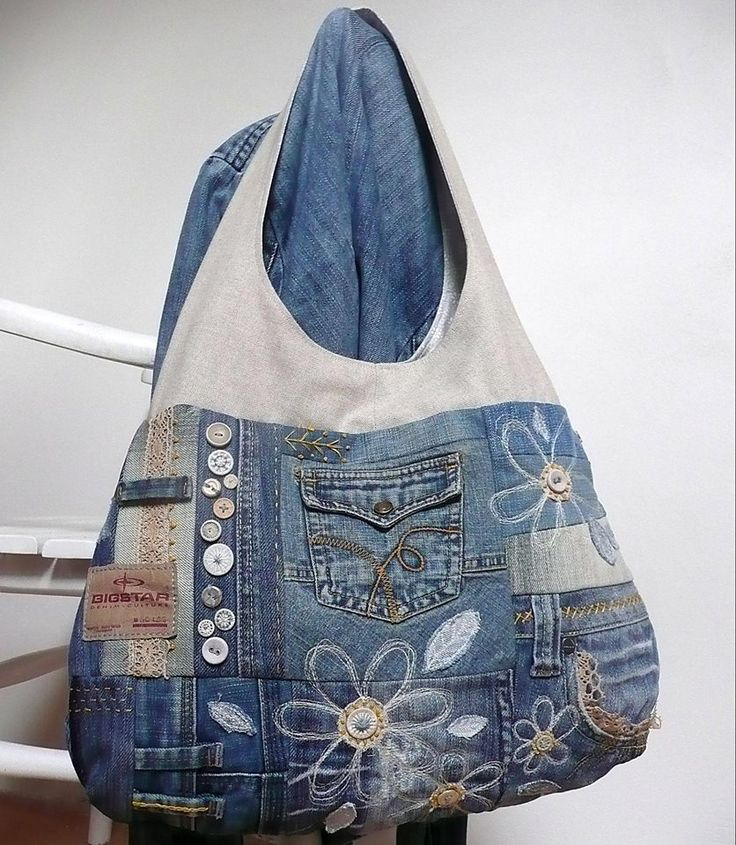 Džínová recy kabelka.
