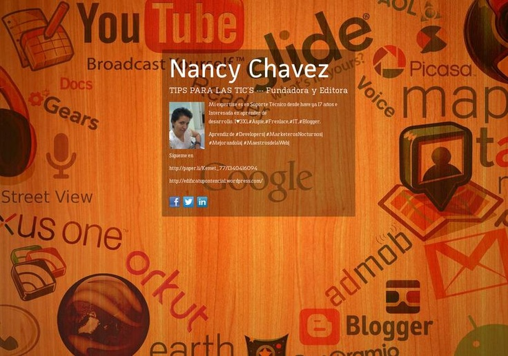 Nancy Chavez's page on about.me – http://about.me/nchavez