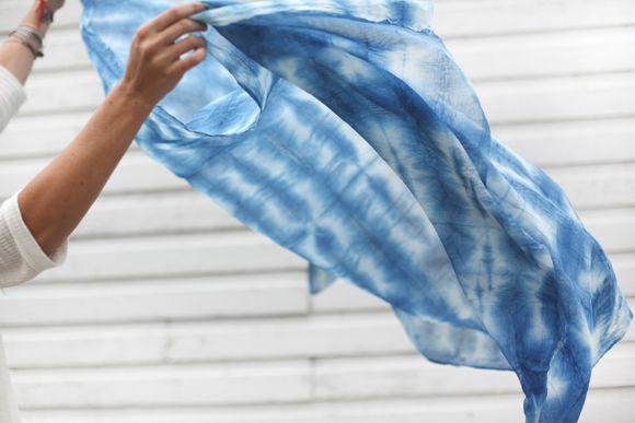 Post image for Shibori: Dyeing With Indigo #indigodyeing #shiboritiedye #textile…