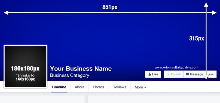 Facebook cover photo dimensions: 851x315px | AdomasBaltagalvis.com #Facebook #design