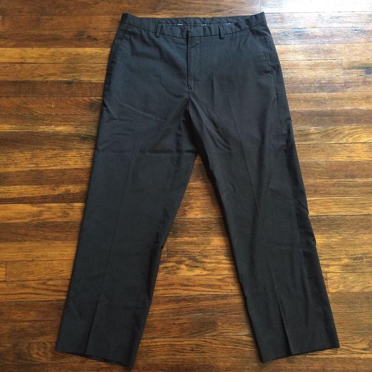 Calvin Klein Men's Pants, Size 34x30 #CalvinKlein #DressFlatFront
