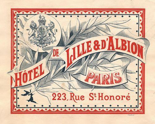 Hôtel de Lille & d'Albion, Paris, hotel label.