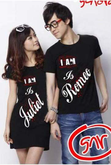 Couple Dress Juliet T-shirt Romeo     Lebar dada/panjang cewe: 45/78cm, cowo: 50/67cm     Harga : Rp. 90.000,-/pasang     Kode Produk / Product Code : CL2266