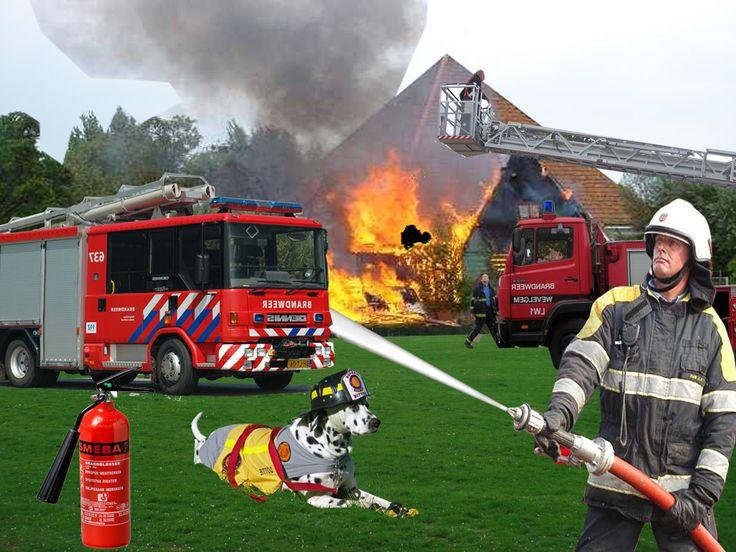 Deze praatplaat in het thema brandweer kun je bekijken op de website van Juf Milou.