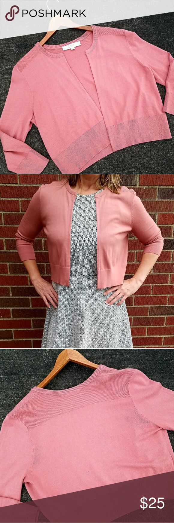 LOFT sweater Rose pink shrug sweater. Really soft and so pretty. LOFT Sweaters Shrugs & Ponchos