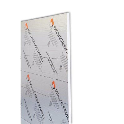 SilveRboard 1-1/2-in x 4-ft x 8-ft Expanded Polystyrene Insulated Sheet
