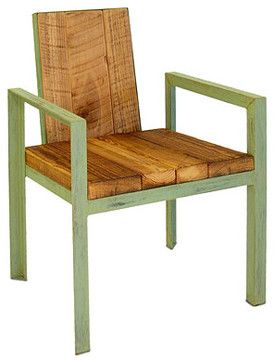 RECLAIMED WOOD OUTDOOR CHAIR eclectic-outdoor-lounge-chairs