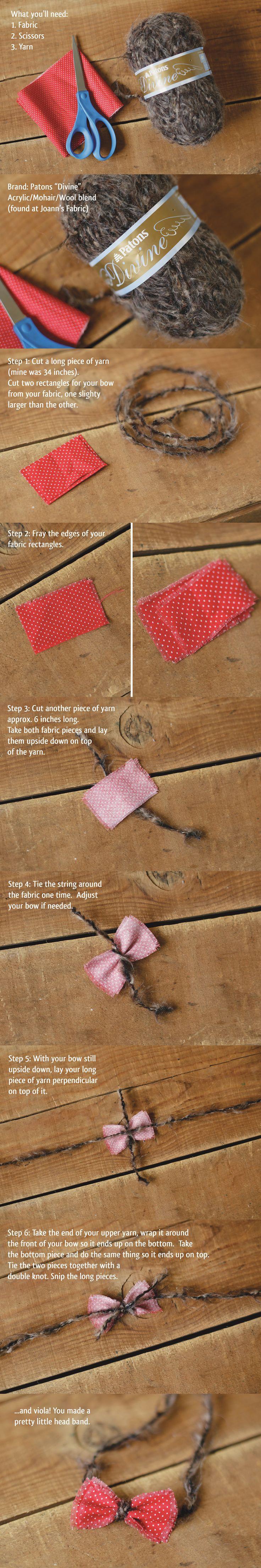 Newborn Photographer, Sarah Ulrich shared this Newborn Bow Headband Tutorial on her blog.  Awesome!