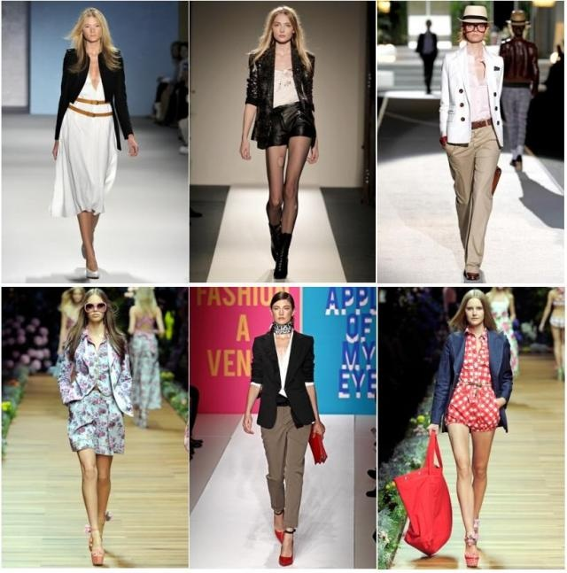 I'm translating TA job to mean new clothes . . . starting with a blazer.  Think top rights my fav