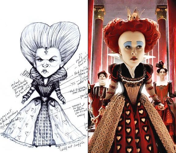 "Colleen Atwood designs nominated for the film ""Alice in Wonderland."""