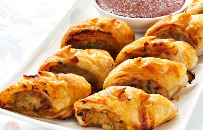 Chicken and Vegetable Sausage Rolls   Stay at Home Mum