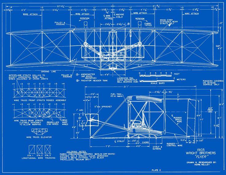 37 mejores imgenes de blueprints en pinterest arte de ensayo 1903 wright flyer blueprints malvernweather Image collections