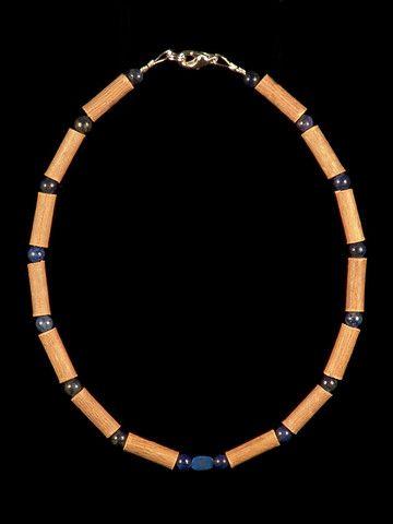 Teething Hazelwood Necklace with Lapis Lazuli beads