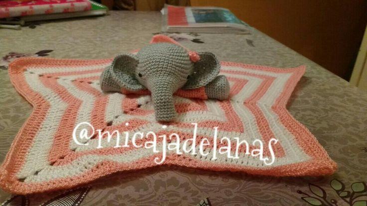 Manta de apego elefanta