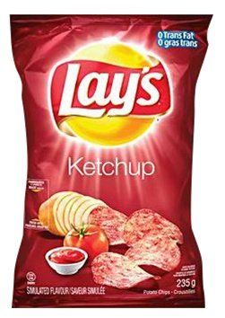 I have 3 favorite flavors of Lays: Ketchup (Canada), Seaweed Sushi (Taiwan), and Fries N Gravy (Canada). Lays Ketchup Chips - 1 Bag: Amazon.com: Grocery & Gourmet Food