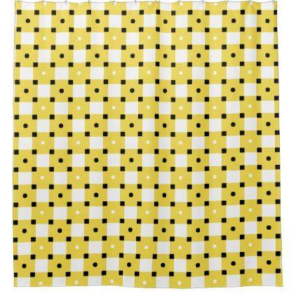 Yellow Shower Curtain - shower curtains home decor custom idea personalize bathroom